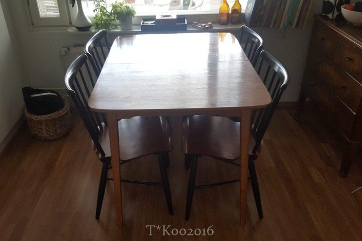 Uusvanha ruokapöytä